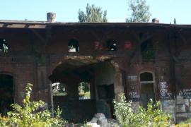 Stara rzeźnia, spalone spichlerze, Gdańsk