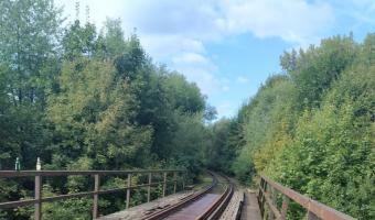 Wiadukt kolejowy w Dobrej koło Limanowej,