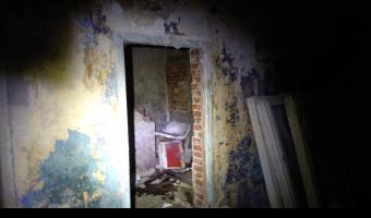 Spalony przed wojenny dom