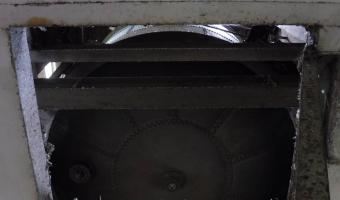 Opuszczona kolejowa wieża ciśnień,