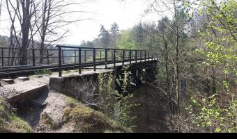 Most kolejowy Rutki,