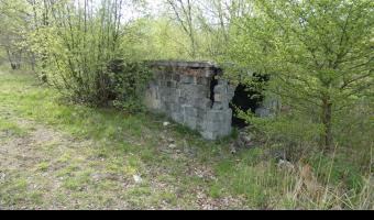 Budynki na terenie poligonu garnizonu Gliwice,