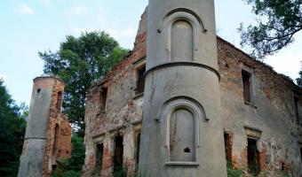 Ruiny pałacu w Jakubowie, Jakubów,