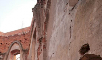 Ruiny późnogotyckiego kościoła pw. Ścięcia św. jana chrzciciela w chojnicy, chojnica / biedrusko