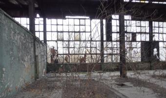 Opuszczony zakład przemysłowy,