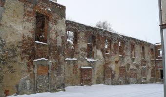 Ruiny zamku, Strzelce Opolskie,