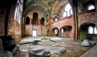 Ruina koscioła ewangelickiego, pisarzowice