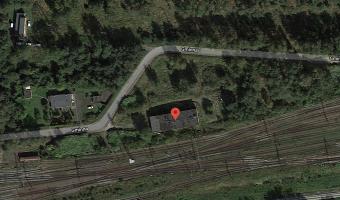 Opuszczony budynek kolejowy,
